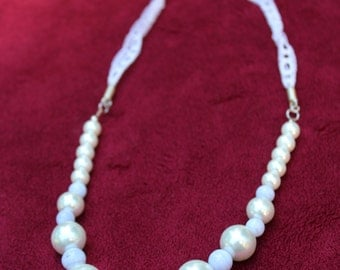 Pearl and Lace Necklace
