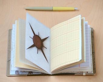 Upcycled Mini Journal- Dingbat Edition
