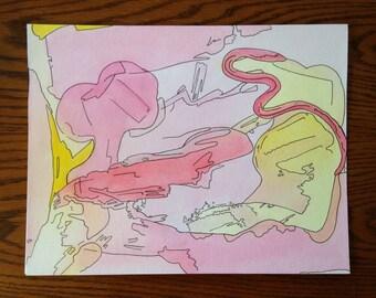 Original Watercolor: I Still Love You
