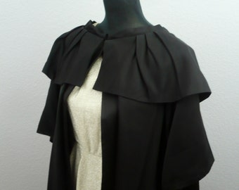 1950s Black A Vendome Original California Opera Coat