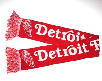 DETROIT RED WINGS - Vintage Kids Scarf - Retro Sports - Hockey