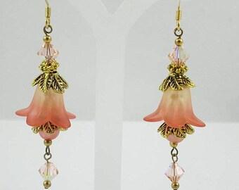 Drop Earrings, Dangle Earrings, Wedding Earrings, Long Earrings, Hypoallergenic Earrings, Nickel Free Earrings, Flower Earrings