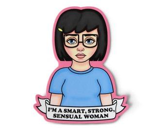Feminist Tina Sticker - Feminism Sticker, Aesthetic, Soft Grunge, Pastel Grunge, Grunge Sticker