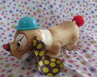 Edward Mobley, Homer the Huggable Hound, clown dog, 1966, squeak toy