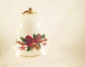 Musical Christmas Bell Vintage Porcelain Christmas Bell NIB Holiday Decorative Collectible Music Box Konitz Germany Silent Night