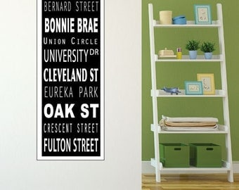 Bus Roll printed on canvas material, Custom Travel Sign, Vintage Subway Scroll, Bus Roll Wall Art, Canvas Flat Paper Print