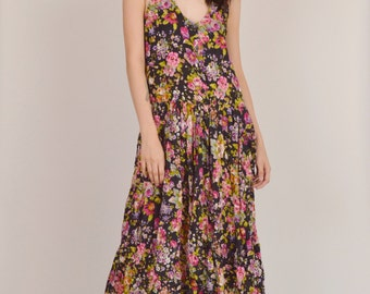 15% OFF Boho Maxi Dress Floral Print Hippie Grunge