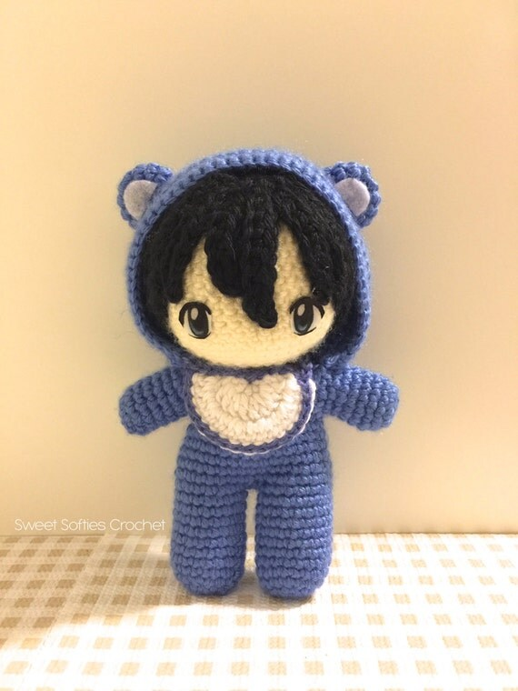 Baby In Bear Onesie Amigurumi Crochet Japanese Anime By Sylemn