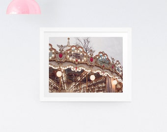 Paris Carousel Print - Paris photography