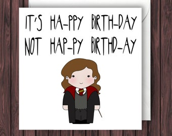 Levi-o-sa. Harry Potter Birthday Card. Funny Greetings Card. Geek Blank Card.