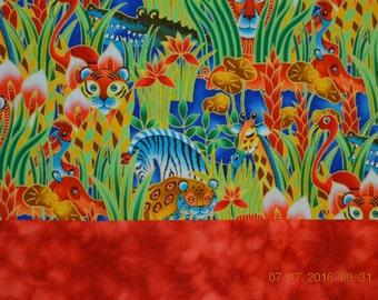 Bright Wild Animals Pillowcase