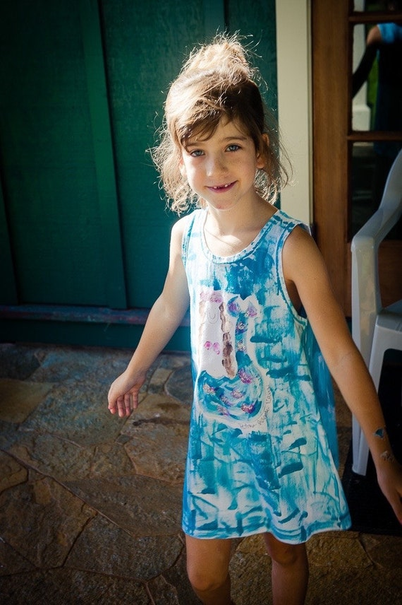 Girls Sundress Girl Summer Dress Kauai Hawaii Mermaid-7383