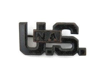 US Military Pin National Army from WWI Antique Militaria Collectibles Badges and Uniform Accessories
