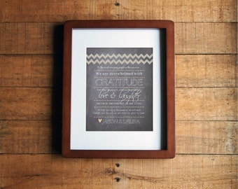 DIY Printable - Chalkboard Wedding Thank You Sign