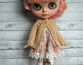 Blythe Doll Knitted Alpaca Cardigan - Pale Buttercream