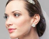 Statement Vintage Vine Filigree Mother of Pearl Crystal Bridal Tiara Wedding Accessory