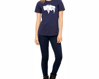 Bison Shirt. Women's T-shirt. Wyoming Shirt. Buffalo Shirt.