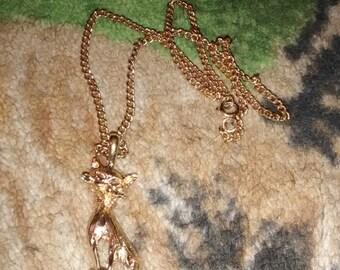 Gold Tone Cat Pendant Gold Tone Chain