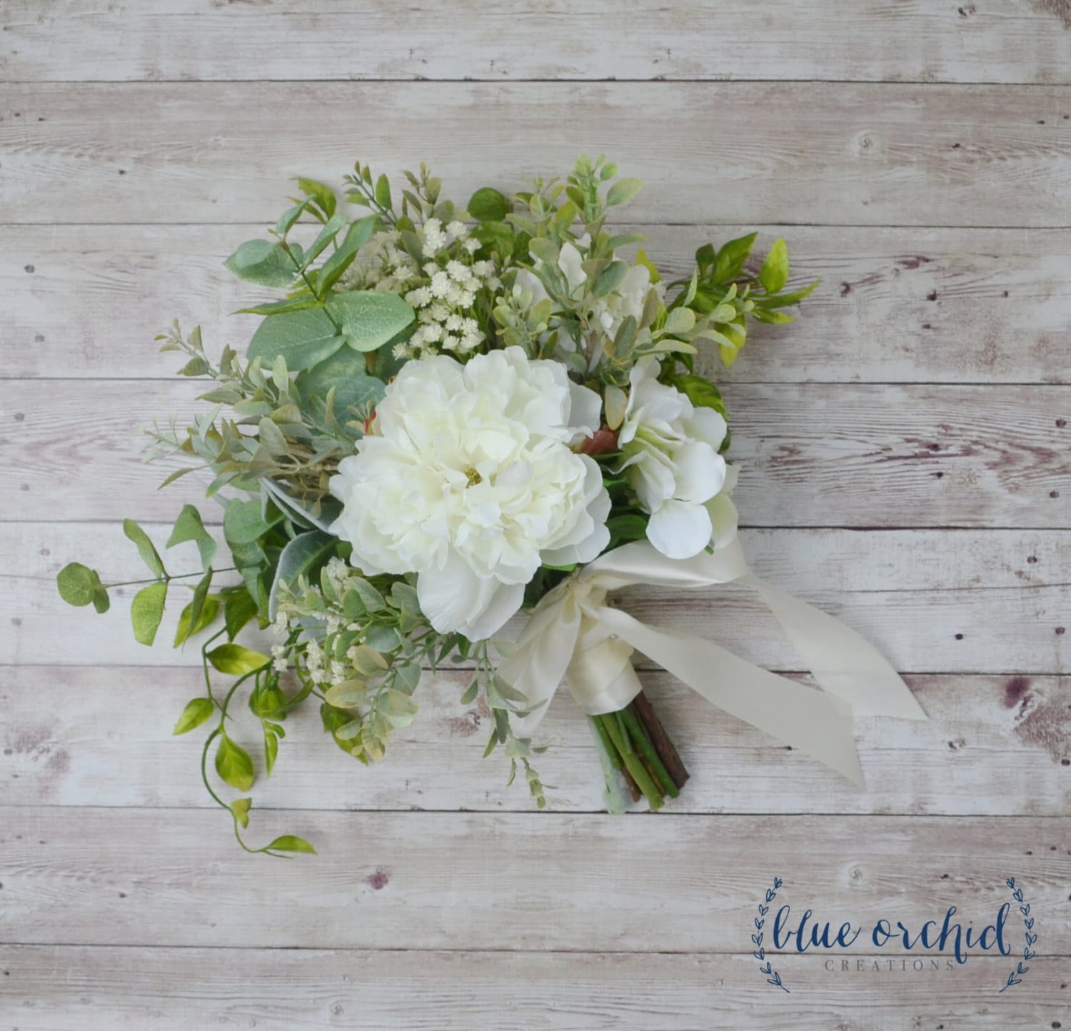 Artificial Flowers For Wedding Bouquets: Silk Wedding Bouquet Boho Bouquet Bridal Bouquet Greenery