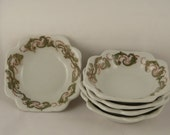 OPCO Syracuse, vintage restaurant ware, square bowls, set of 5