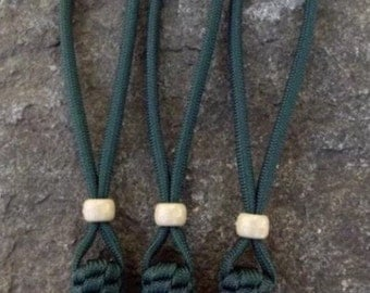550 Paracord Knife Lanyard Set in Hunter Green