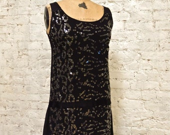 90s Iconic GHOST London Sequined Flapper-Style Dress
