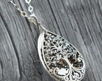 Tree Locket - TREE OF LIFE Locket - sterling Silver - Mothers Gift