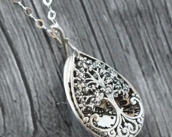 Tree Locket - TREE OF LIFE Locket - sterling Silver - Mothers Gift