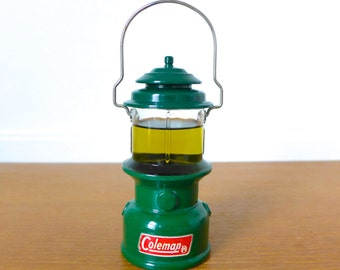 Vintage Avon Coleman Lantern Wild Country cologne bottle, hunter green
