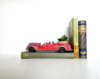 Vintage Hubley Toy Car, Hubley Kidde Toy Fire Truck, Die Cast Toy Car with Original Red Paint, Antique Fire Truck, Vintage Red Truck,