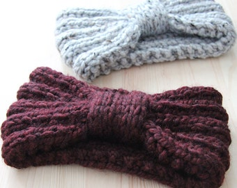 super chunky knitted  headband, wide turban,  CHOOSE YOUR COLOR