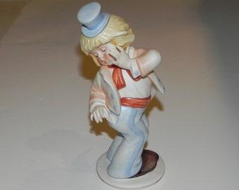 """Goebel Clown Bisque Figurine Germany """"Oops"""" by Gerhard Skrobek Ltd. Edition"""