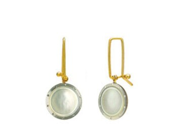 Earlinksc!  Mother of Pearl 14k Gold