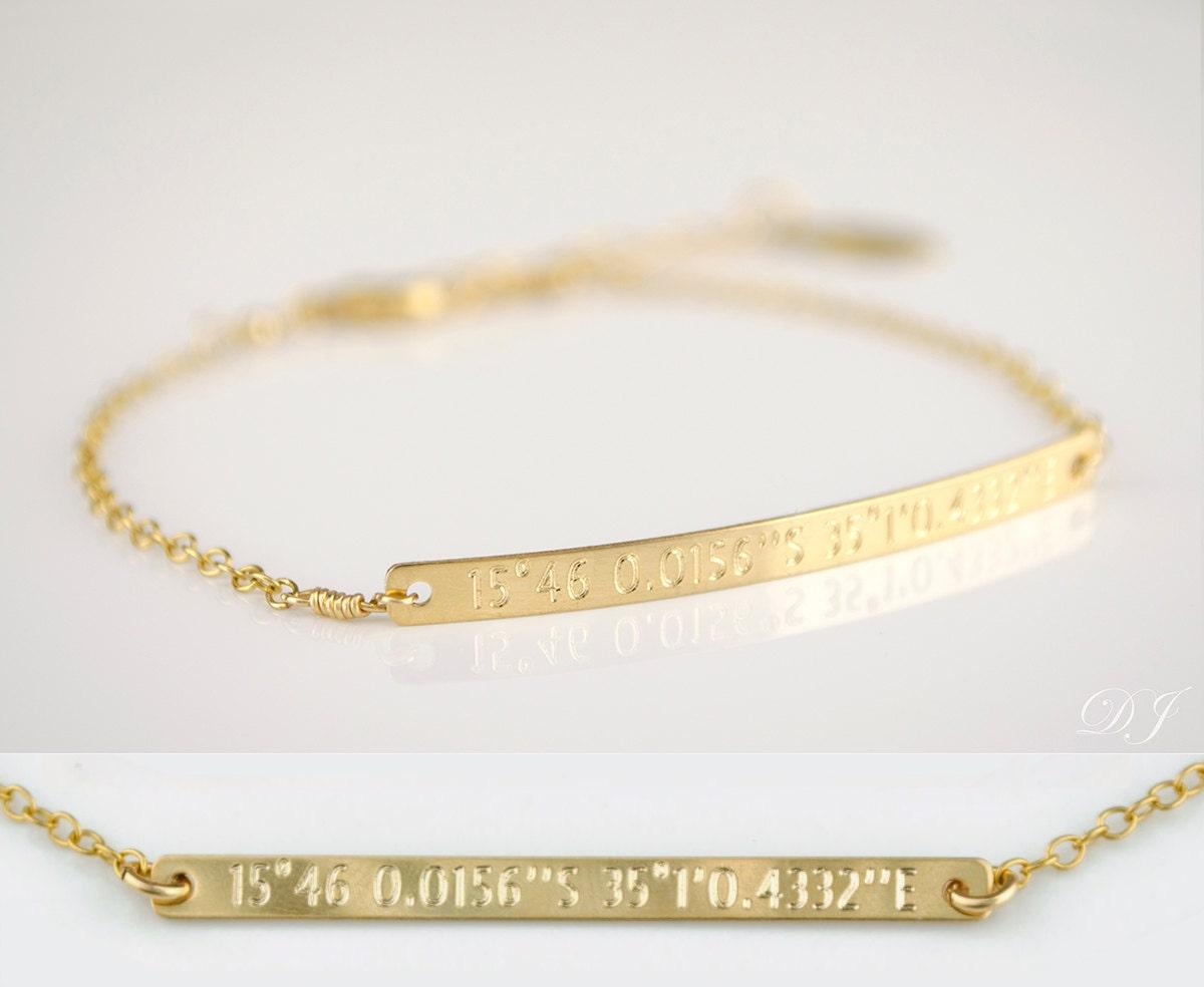 custom coordinates bracelet gps location bracelet