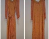 Vintage Treacy Lowe Indian Silk Maxi Dress