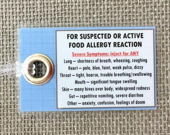 Nut Allergy/Food Allergy Tags - What to Do Response Tags