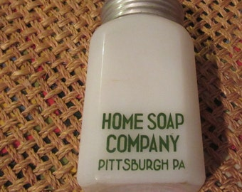home soap company milk glass shaker pittsburg pa
