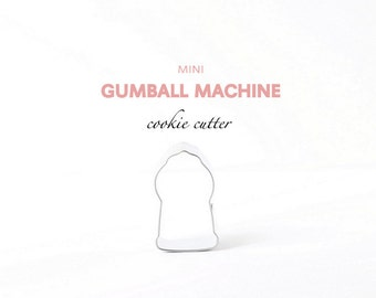 Mini Gumball Machine Cookie Cutter, Candy, Cookies, Party, Miniature Cutters, Custom Cookies