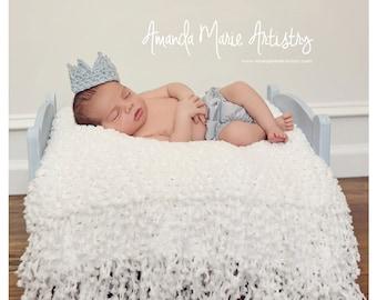Crochet Baby Boy Hat Crown. Adjustable Baby Boy Prince Hat Crown - Baby Boy Hat Crown Photo Prop Baby Boy Clothes