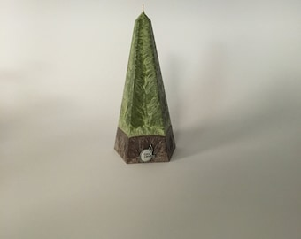 Large Vegan Pyramid Candle