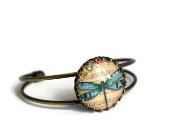 Dragonfly Bangle, Bronze Bangle,  Summer Jewellery, Festival Jewellery, Boho Style, Dragonfies