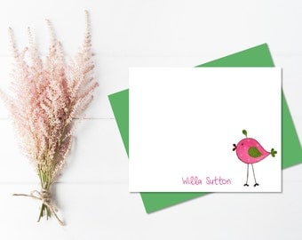 Pen Pal Kit for Kids | Kids Personalized Stationery Set for Girls | Personalized Stationary for Kids | Bird Stationary | Cute Stationary