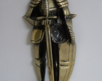 Vintage Mid Century Knight in Armor with Sword