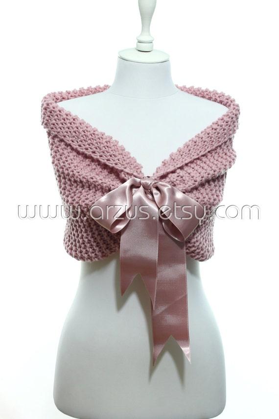 Knitting Patterns For Bridal Shawls : Wedding Shawl Bridal Shawl Bridal Wedding Cape Nude Pink Shawl