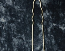 AMUR brass hair fork / oversized bun pin