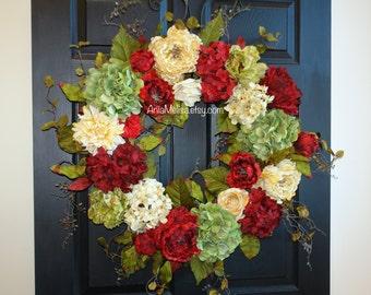 Christmas wreath 30'' front door wreaths Holiday wreath Christmas wreaths for front door wreath decorations outdoor WREATH birthday gift