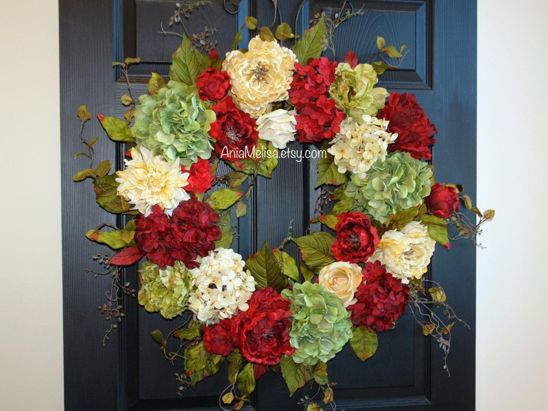 Christmas wreath 30 39 39 front door wreaths holiday for Front door xmas wreaths