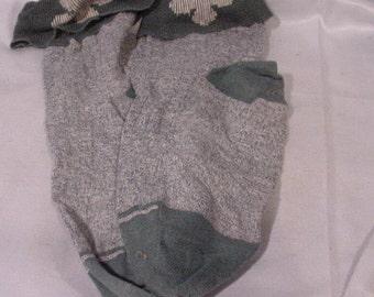 Pair of vintage Girl Scout Brownie Socks Green White Oldies