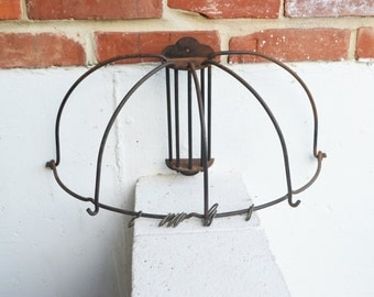 Antique Pots, Pans Wood Stove/Country, Farmhouse Kitchen Wall Mount/Hanger