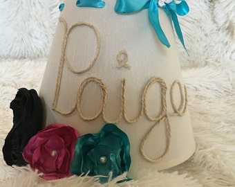 Personalized name lamp shade